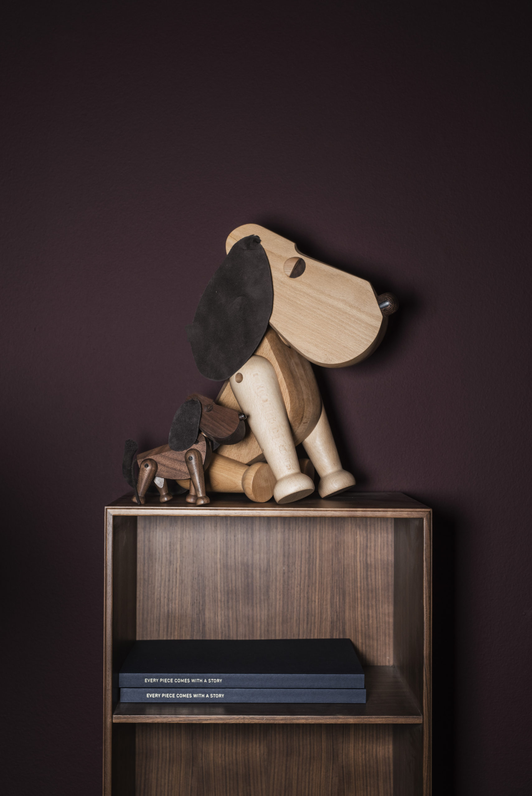 ARCHITECTMADE Bobby Rufus Walnut Beech Wood Dog Denmark Hans Bølling