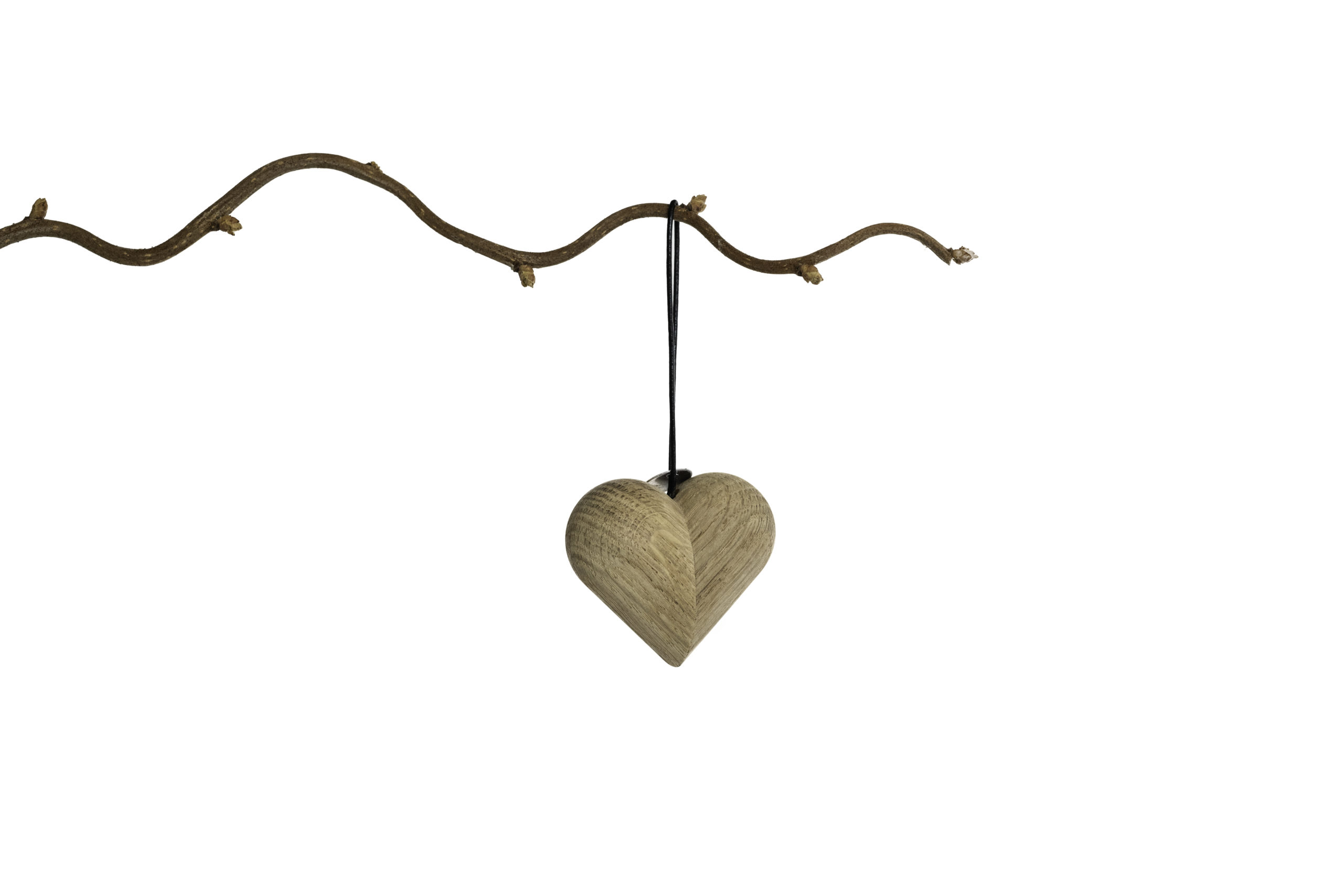ARCHITECTMADE Jul Christmas Hanging Ornaments Heart Oak Nikolaj Klitgaard