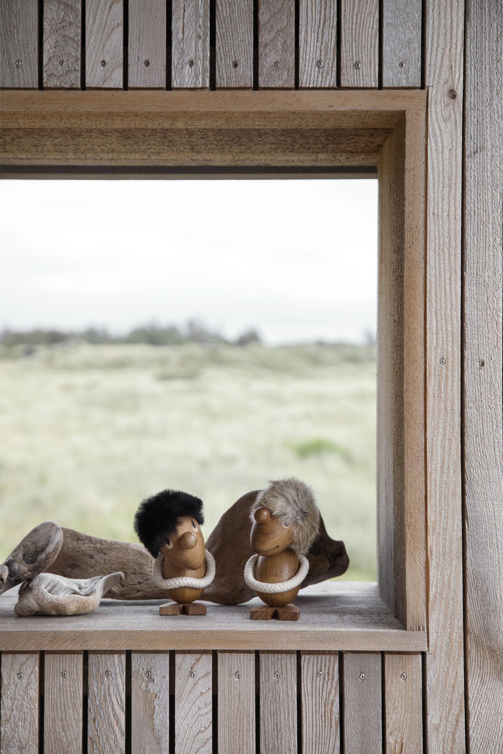 ARCHITECTMADE Optimist and Pessimist Teak Wood Home Accessory Denmark Hans Bølling