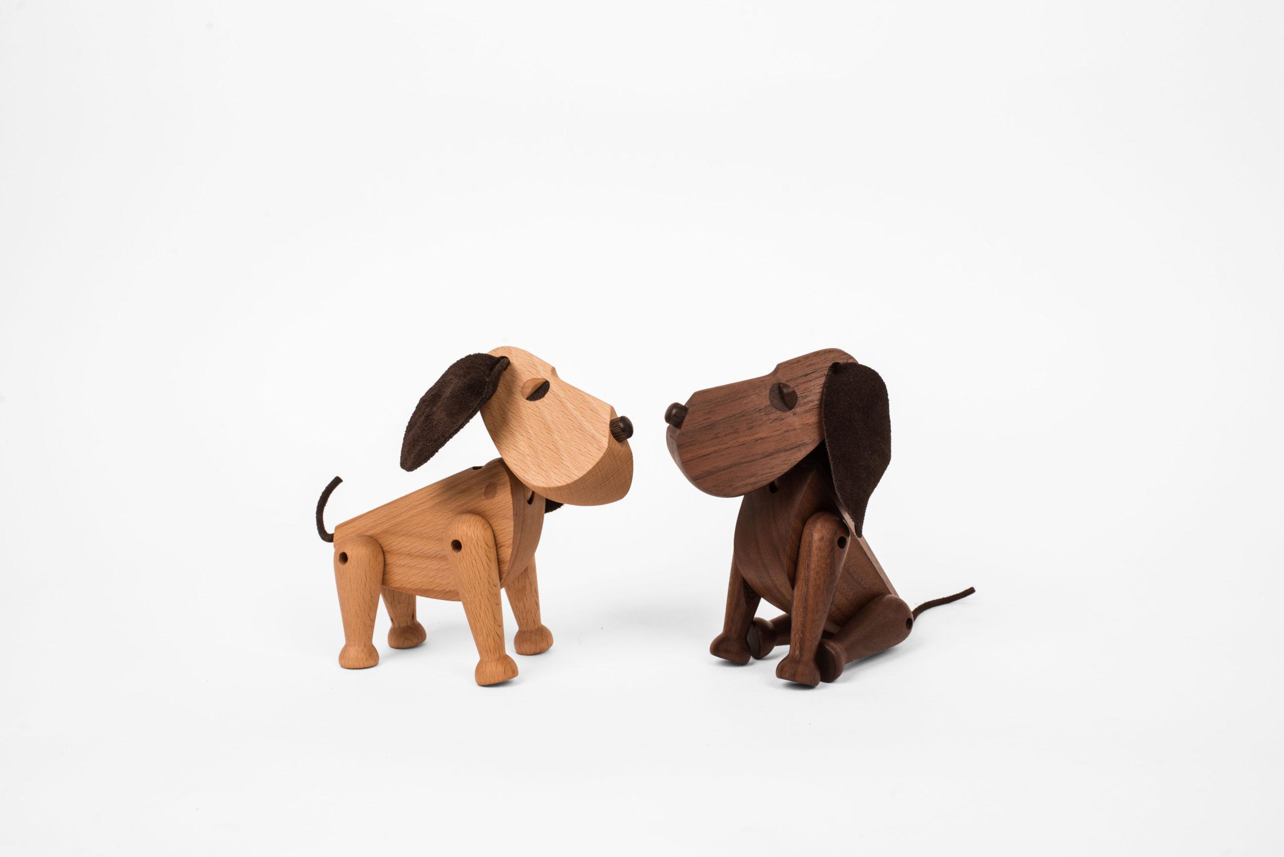 ARCHITECTMADE Oscar Bobby Dog Beech Wood Walnut Wood Hans Bølling