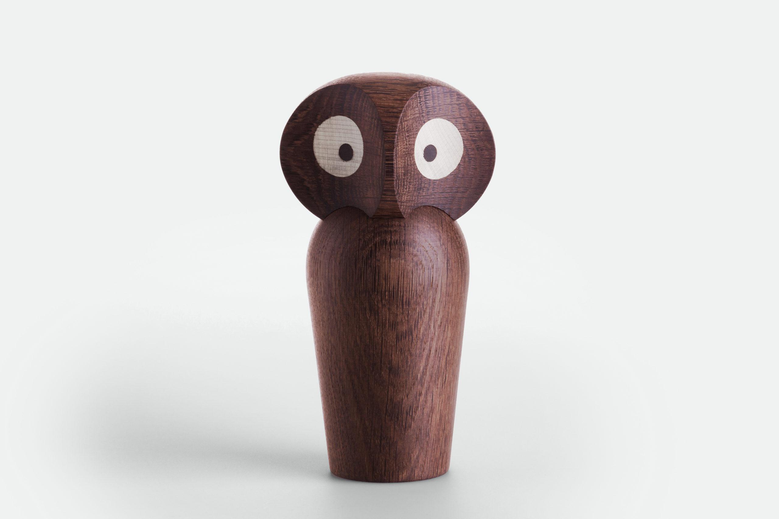 ARCHITECTMADE Owl Large Smoked Oak Wood Paul Anker Hansen