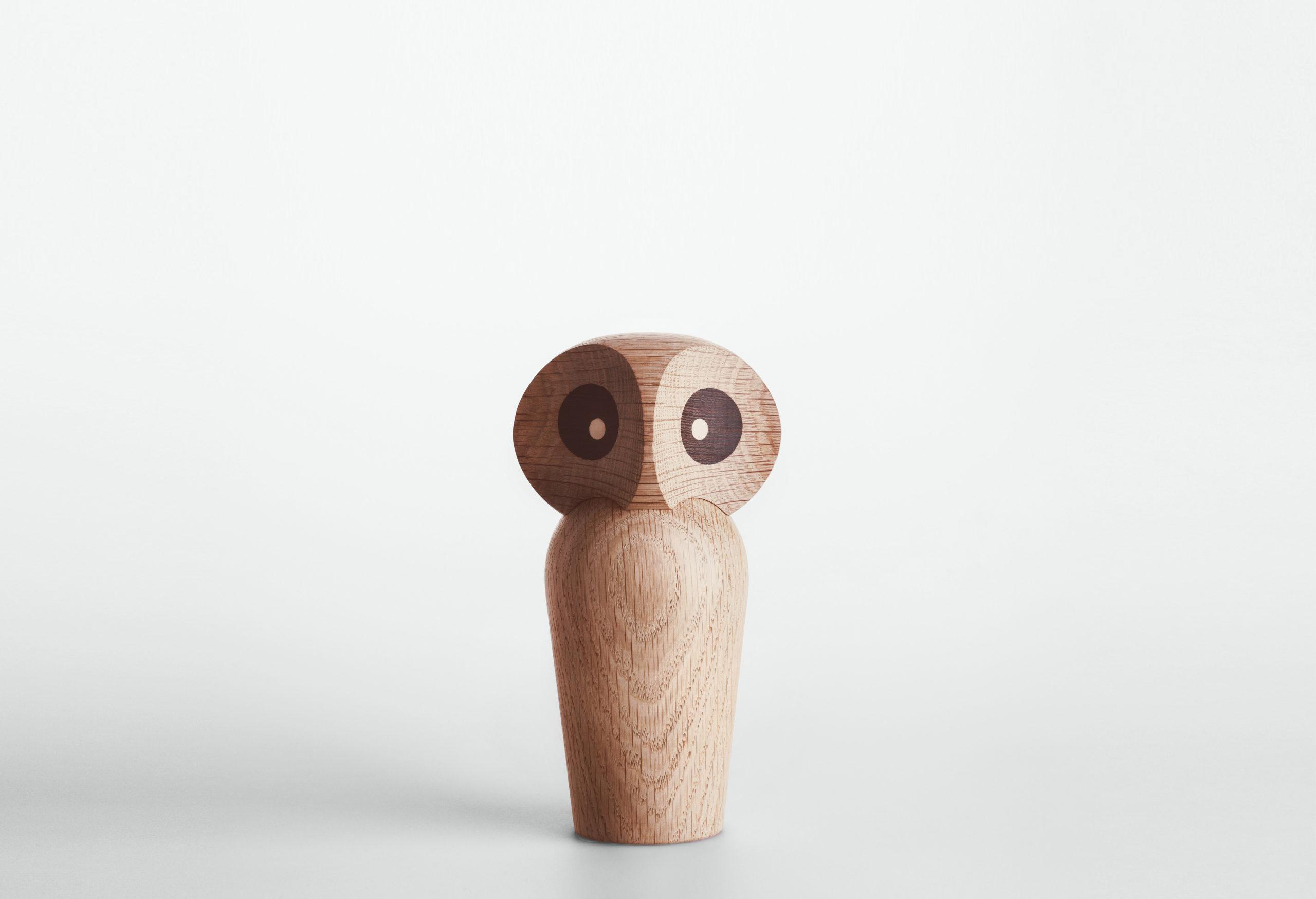 ARCHITECTMADE Owl Small Natural Oak Wood Paul Anker Hansen