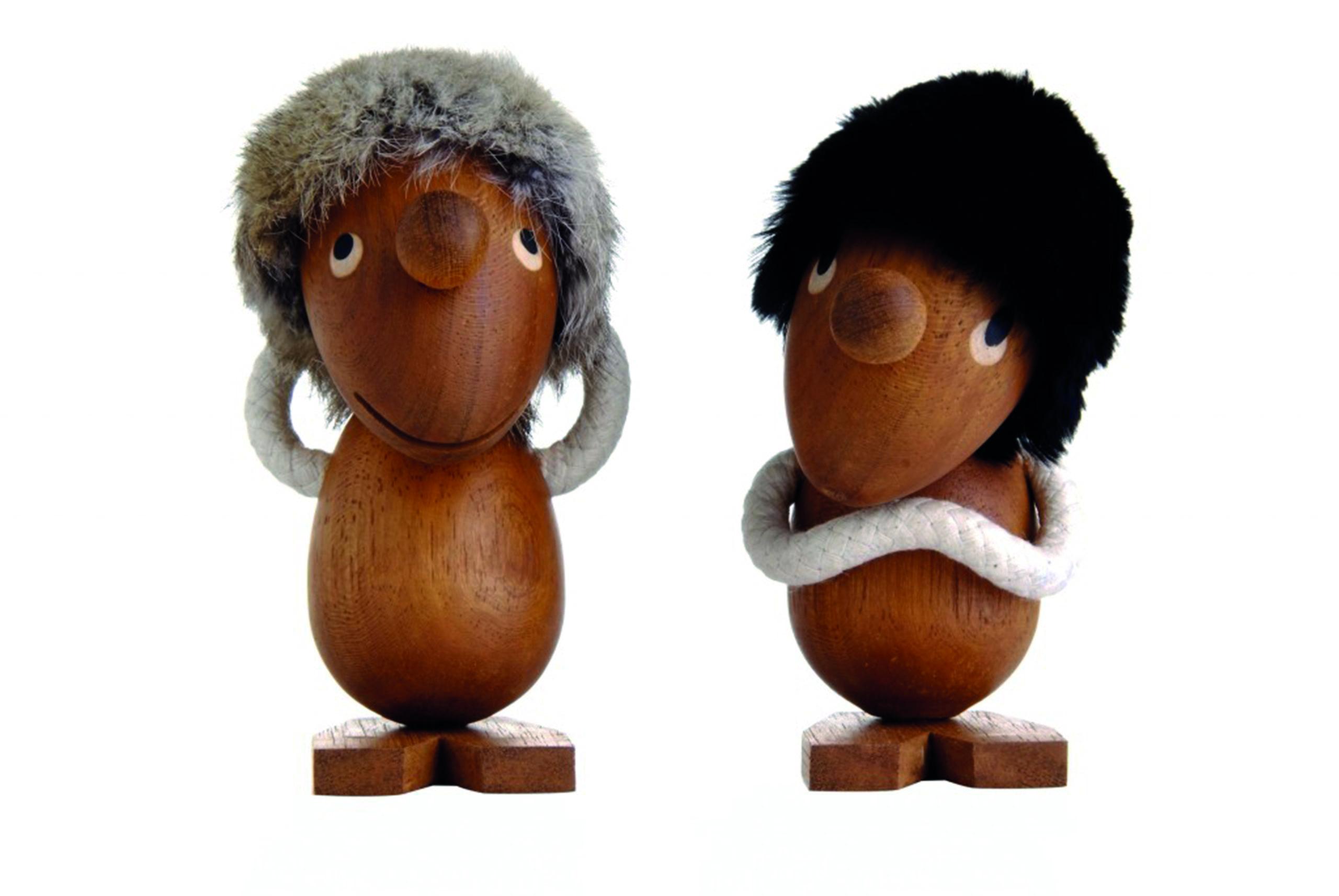 ARCHITECTMADE Pessimist and Optimist Teak Wood Object Hans Bølling