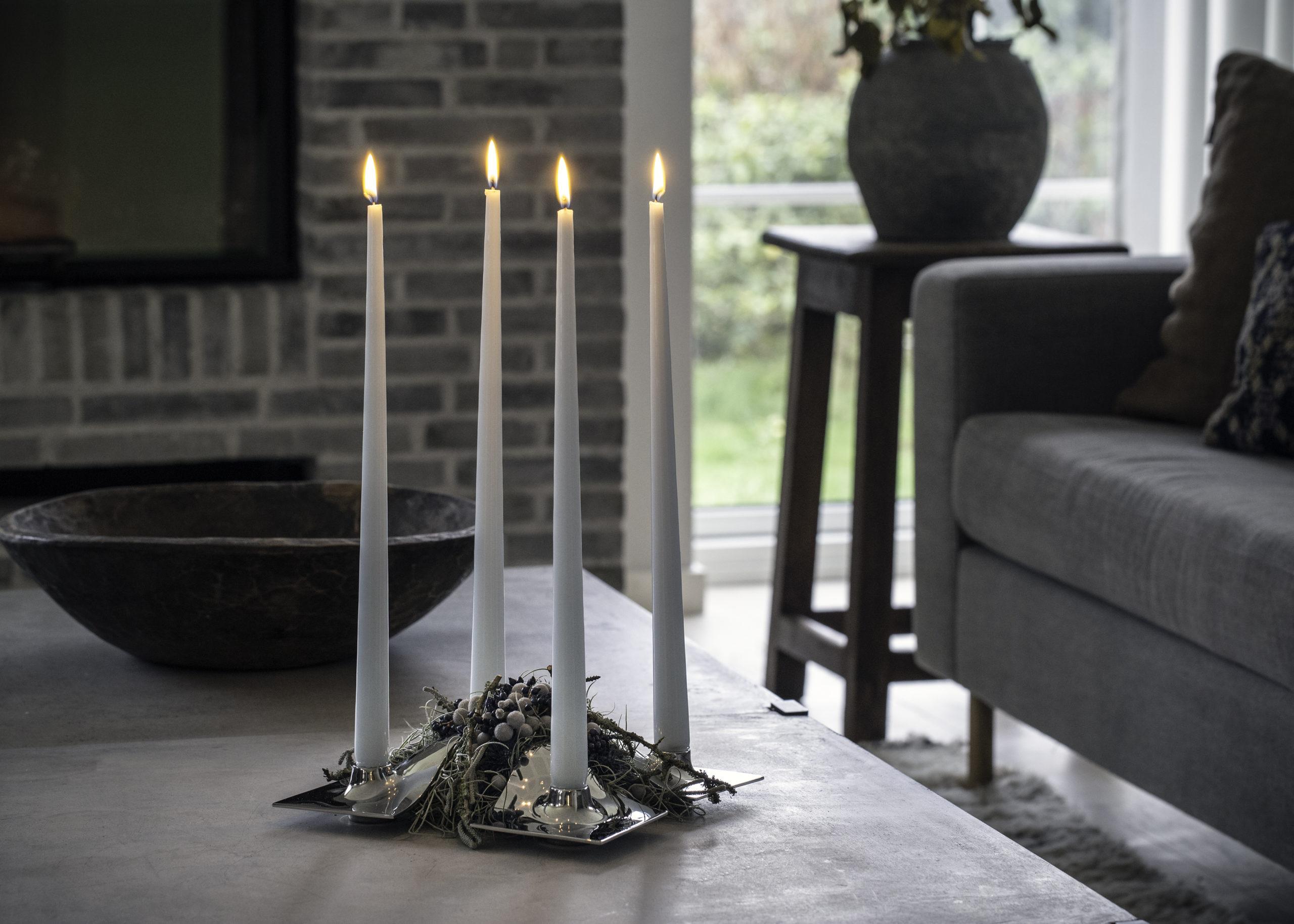 ARCHITECTMADE Quartet Stainless Steel Candleholder Denmark Hans Bølling