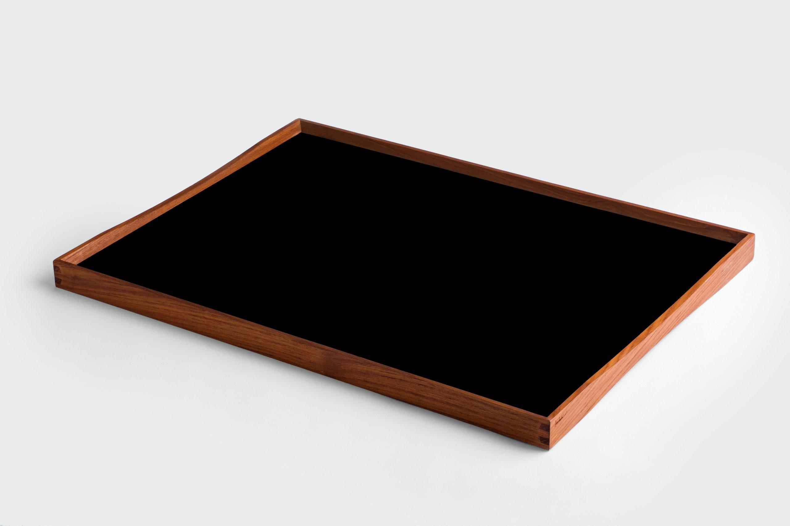 ARCHITECTMADE Turning Tray Large Black Teak Laminate Finn Juhl