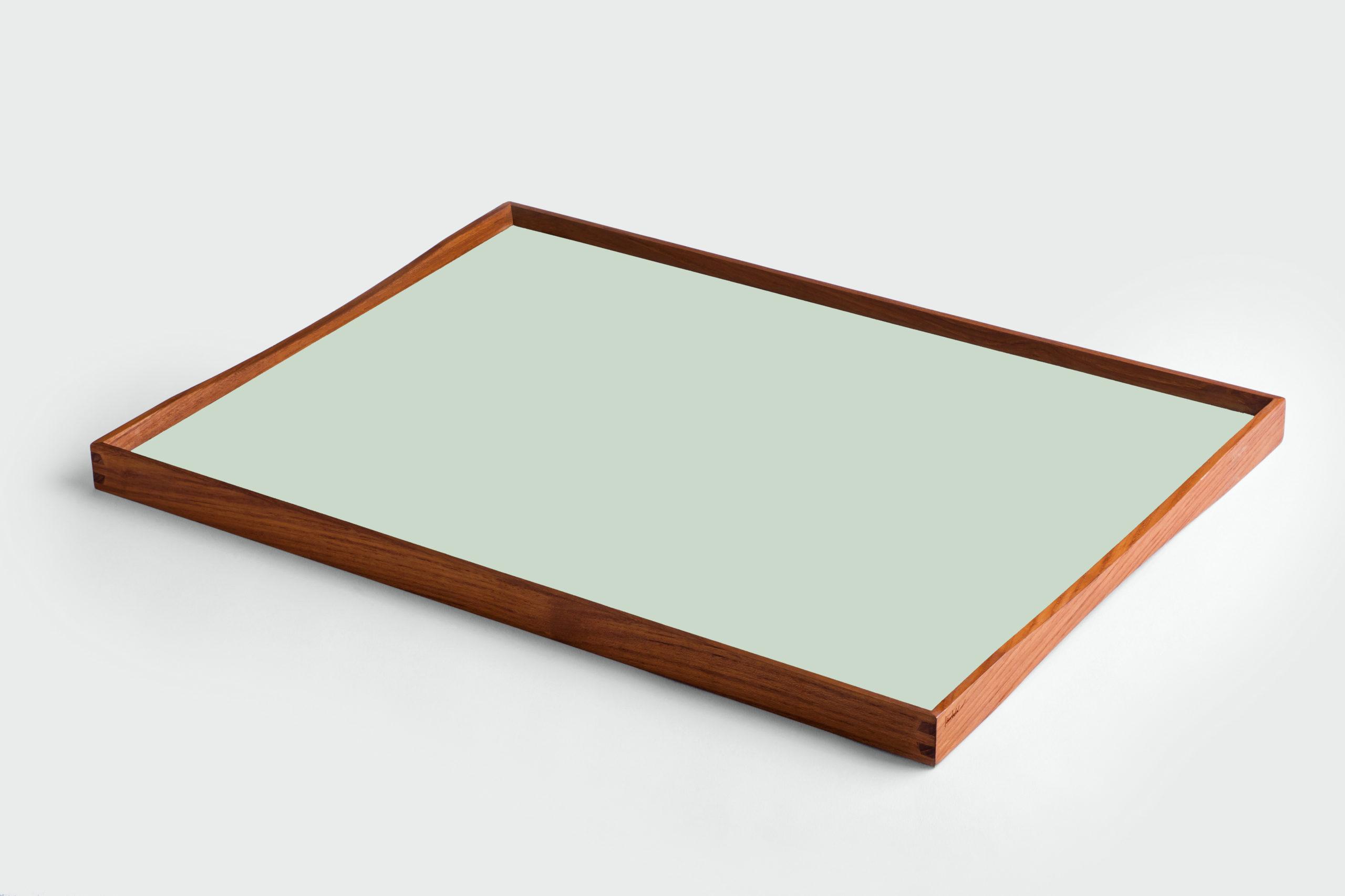 ARCHITECTMADE Turning Tray Large Green Teak Laminate Finn Juhl
