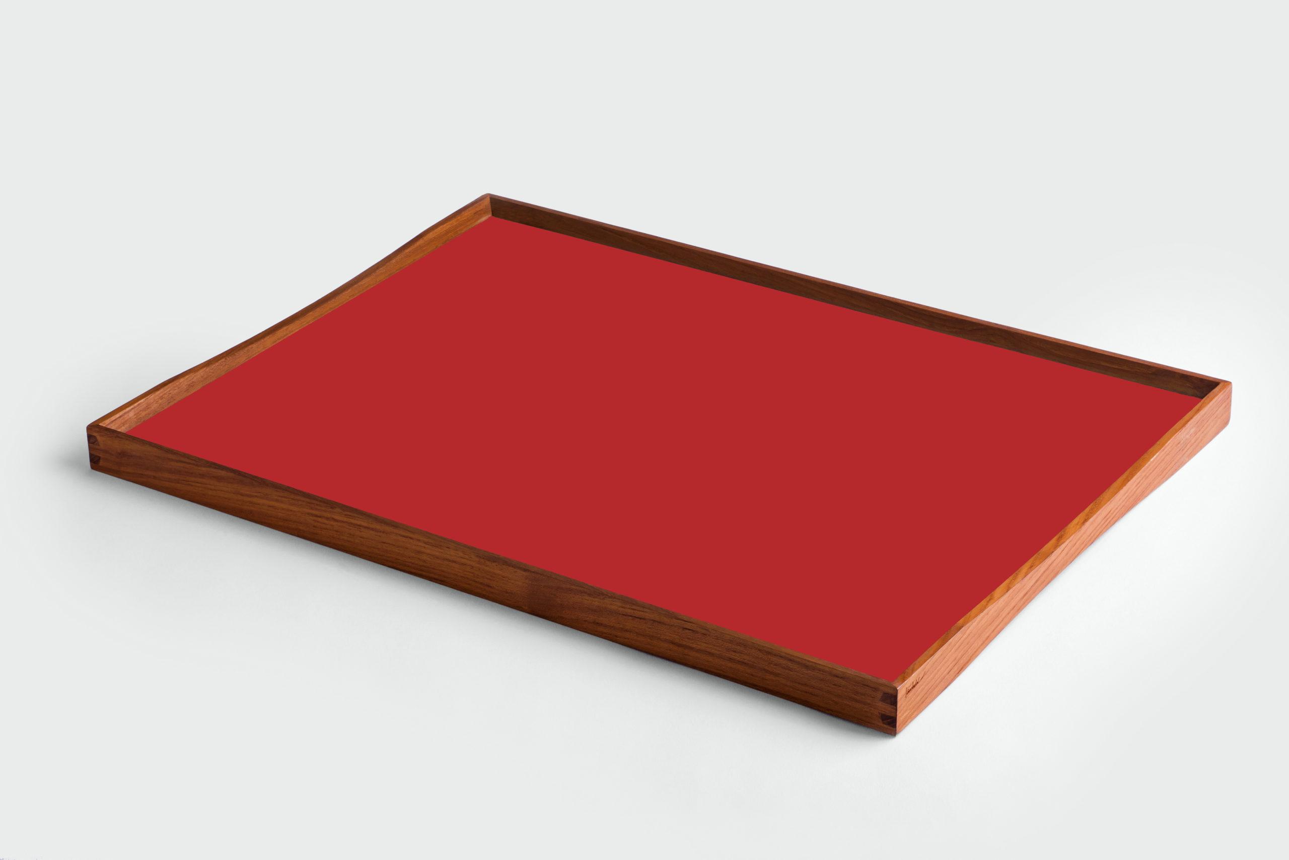 ARCHITECTMADE Turning Tray Large Red Teak Laminate Finn Juhl