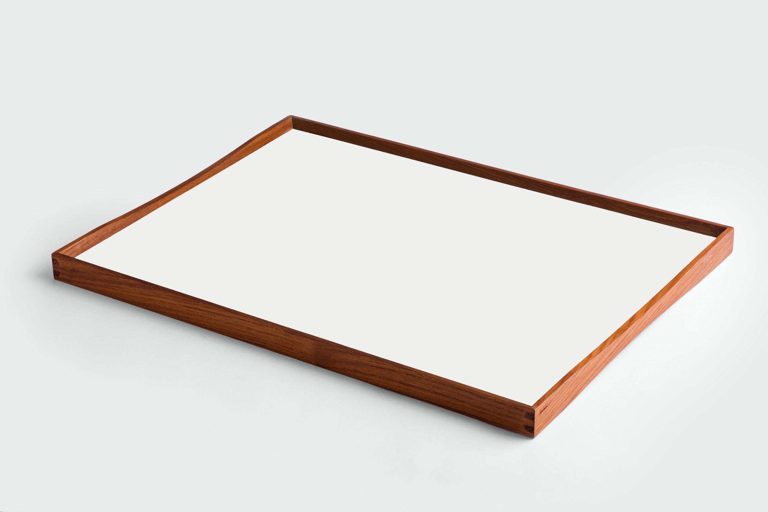 ARCHITECTMADE Turning Tray Large White Teak Laminate Finn Juhl