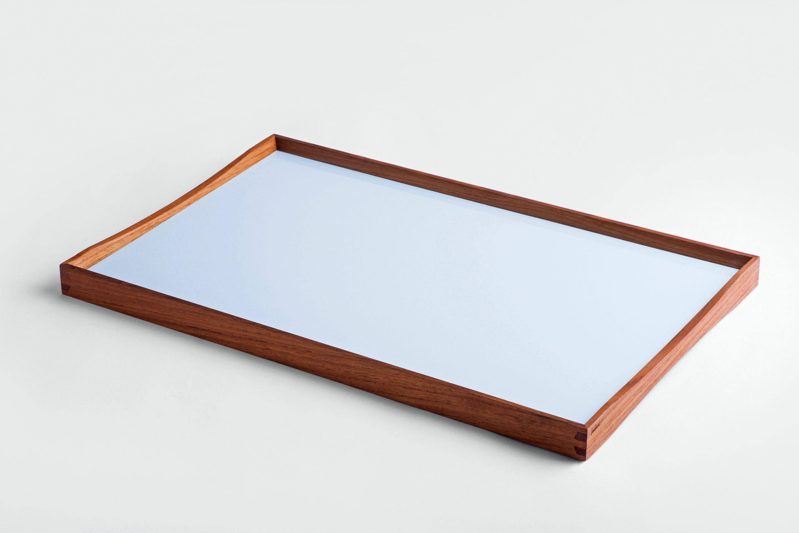 ARCHITECTMADE Turning Tray Medium Blue Teak Laminate Finn Juhl