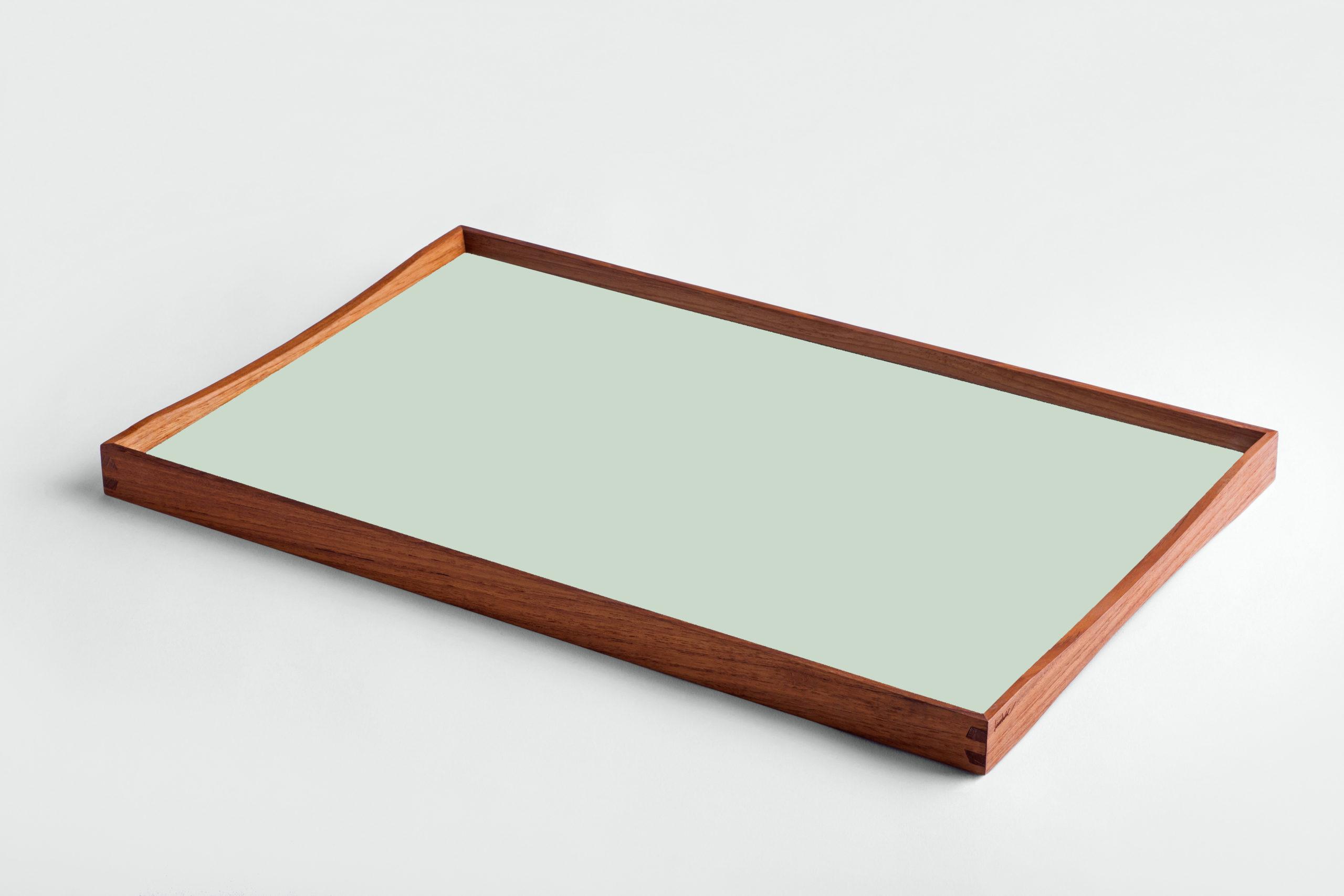 ARCHITECTMADE Turning Tray Medium Green Teak Laminate Finn Juhl