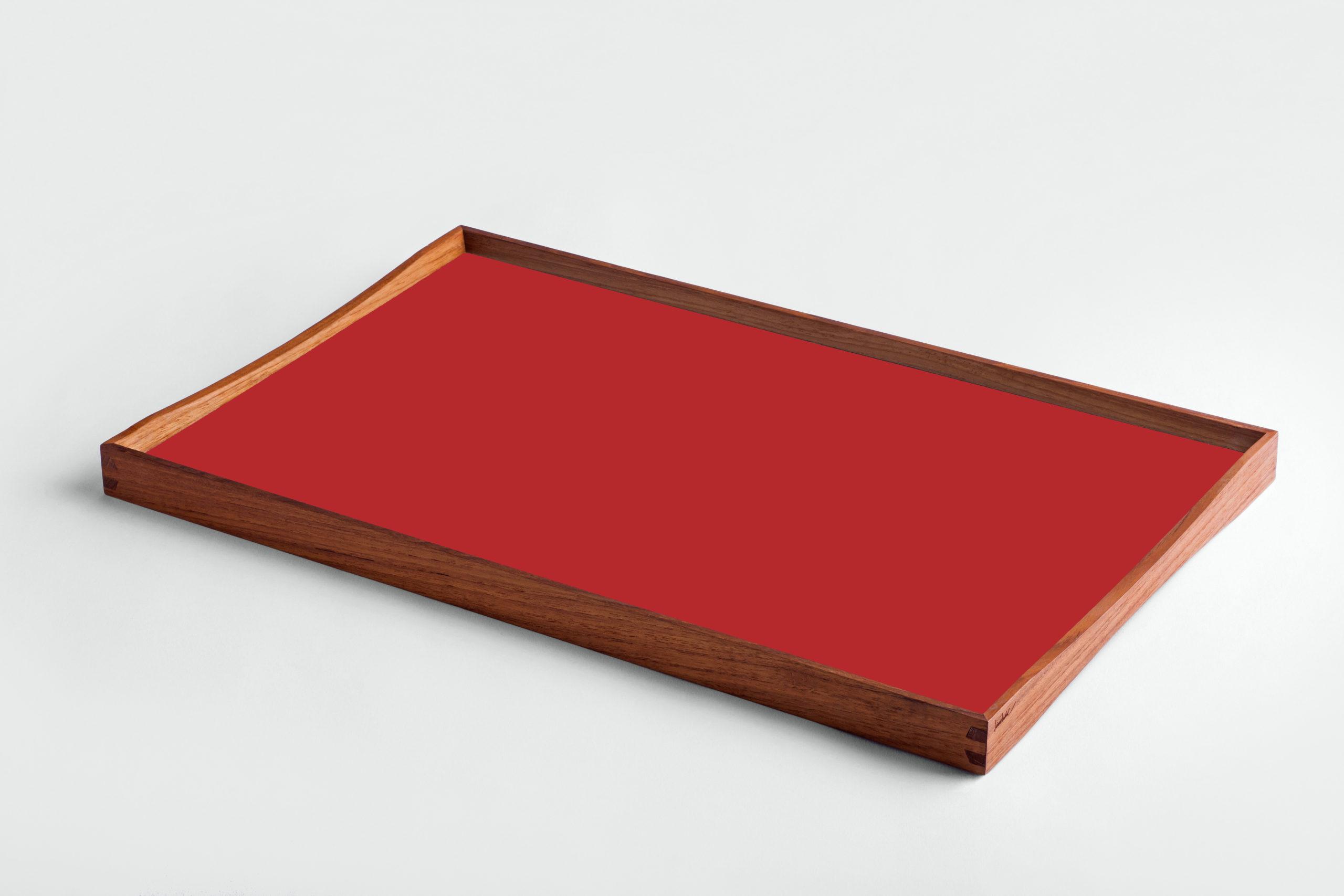 ARCHITECTMADE Turning Tray Medium Red Teak Laminate Finn Juhl