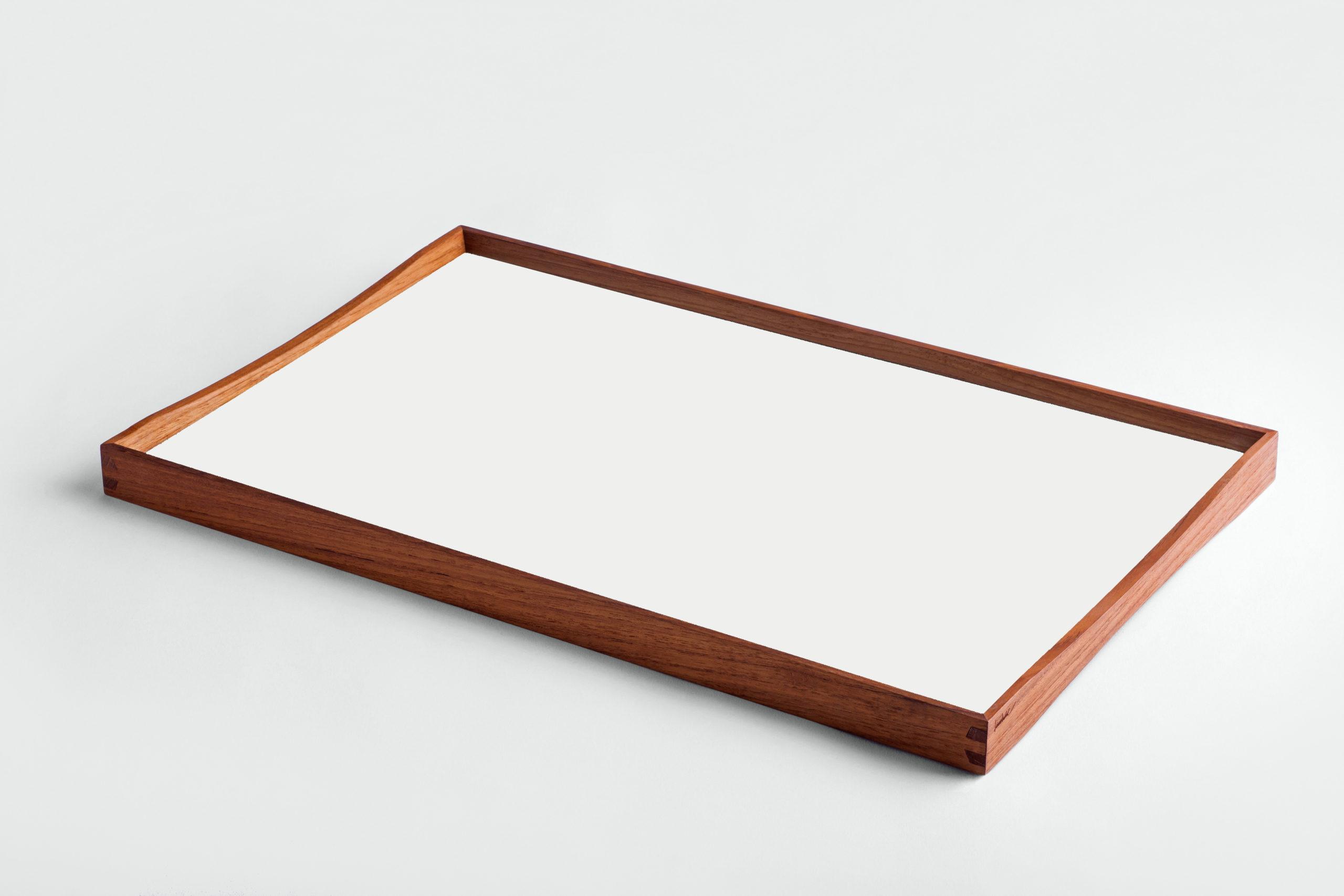 ARCHITECTMADE Turning Tray Medium White Teak Laminate Finn Juhl