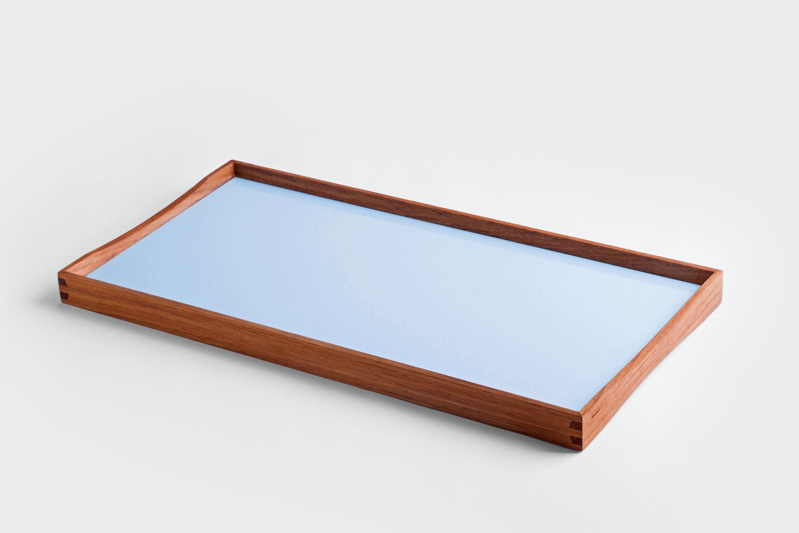 ARCHITECTMADE Turning Tray small Blue Teak Laminate Finn Juhl