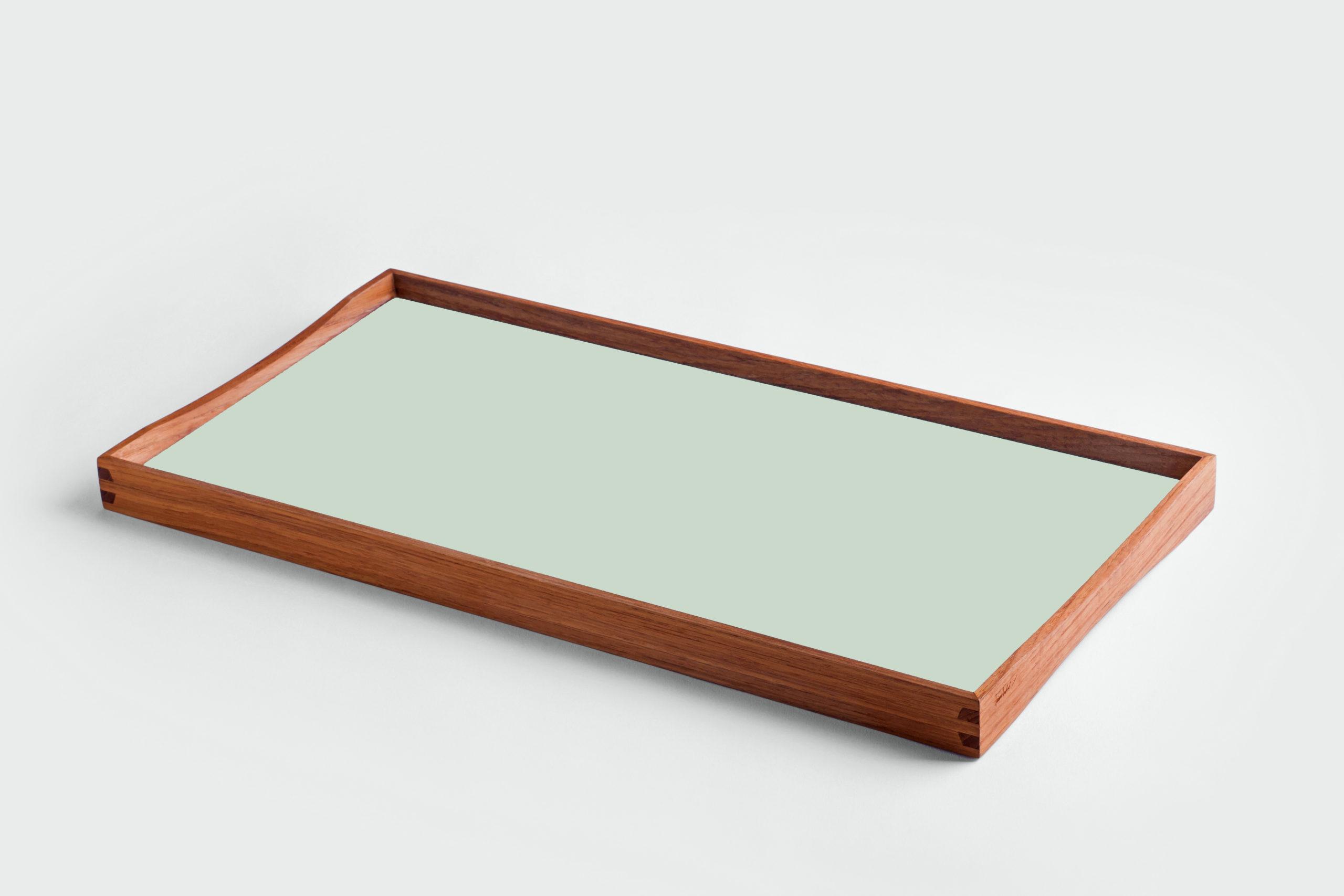 ARCHITECTMADE Turning Tray small Green Teak Laminate Finn Juhl