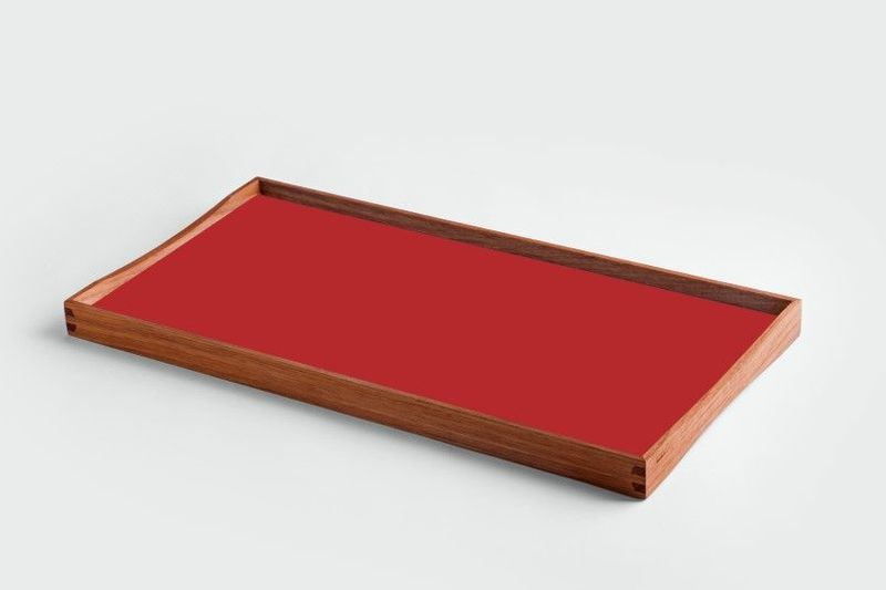 ARCHITECTMADE Turning Tray small Red Teak Laminate Finn Juhl