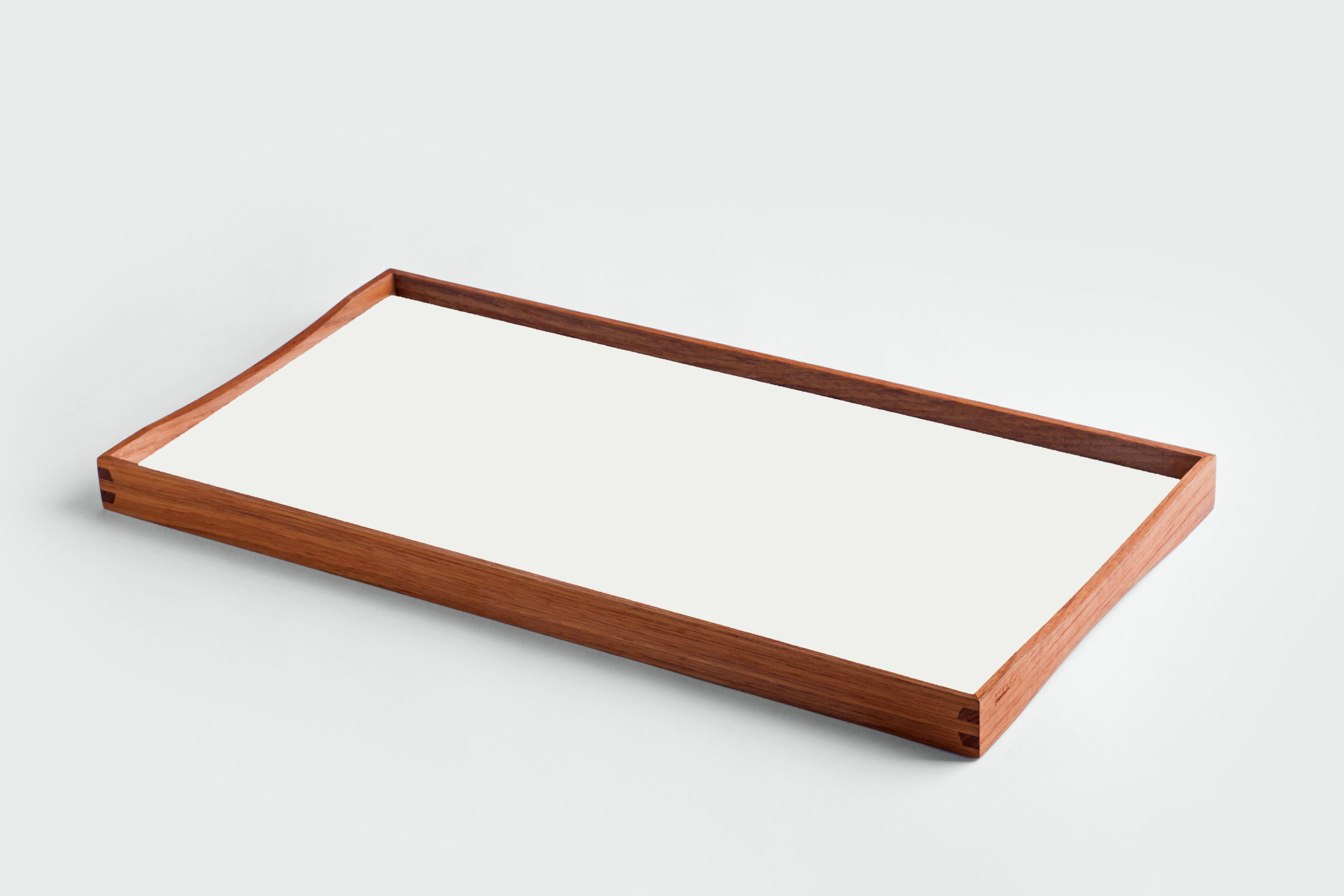 ARCHITECTMADE Turning Tray small White Teak Laminate Finn Juhl