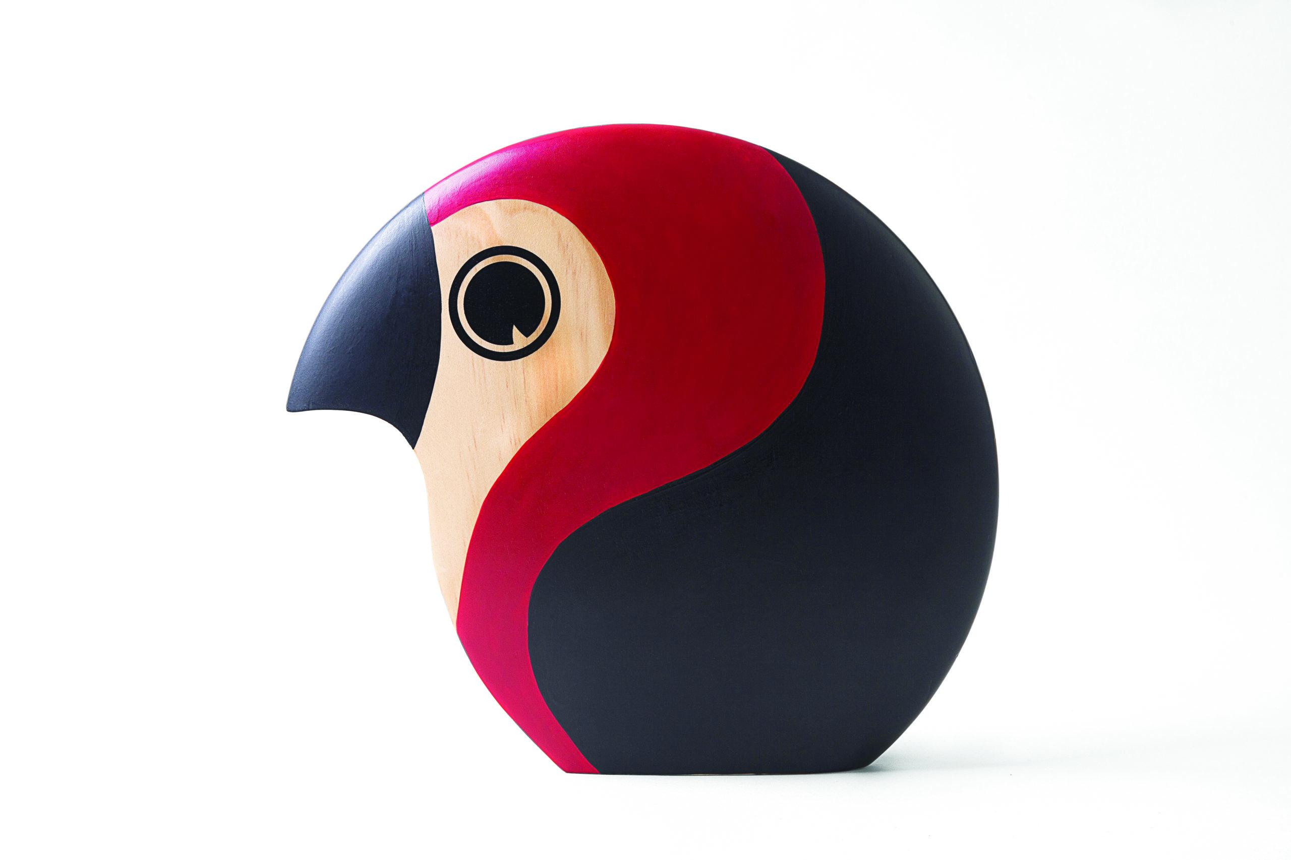 ARCHITECTMADE Discus Large Red Pine Bird Hans Bølling